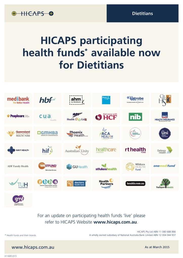 Hicaps for Dietitians